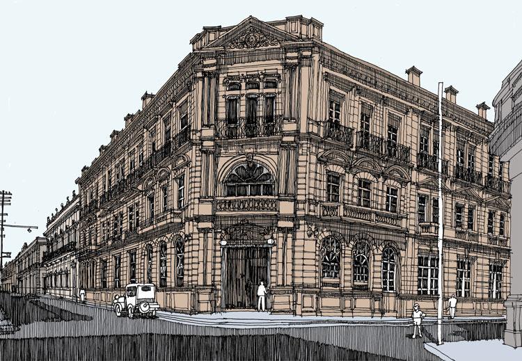 ilustración arquitectura - Jorge Fregoso