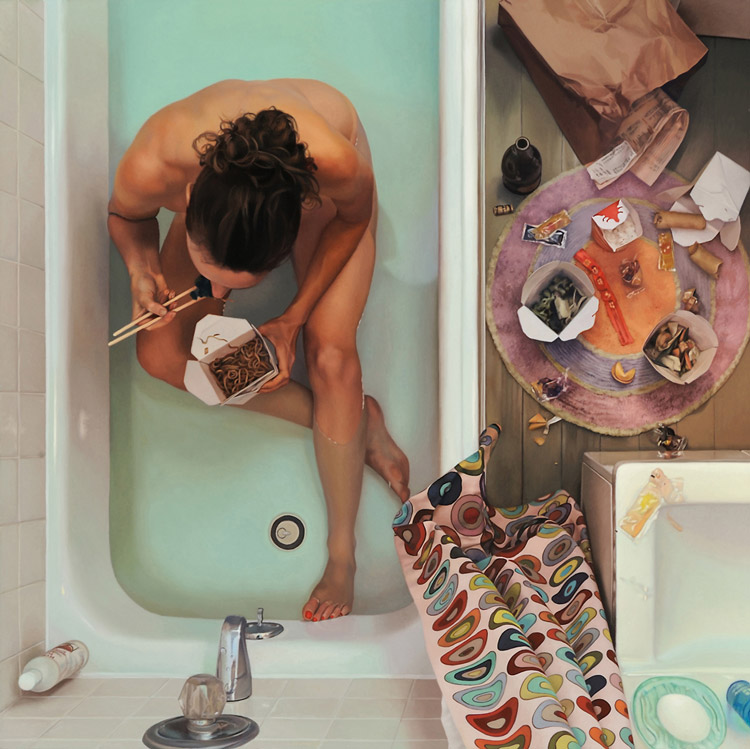 Lee Price In Tub With Chinese Food