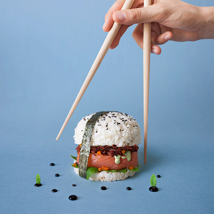 Fat & Furious Burger sushi