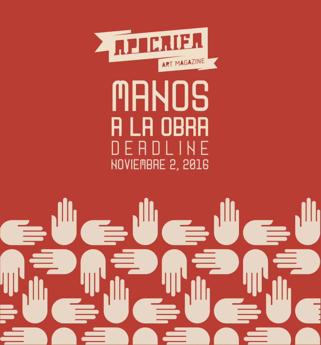 Manos, convocatoria Apócrifa Art Magazine