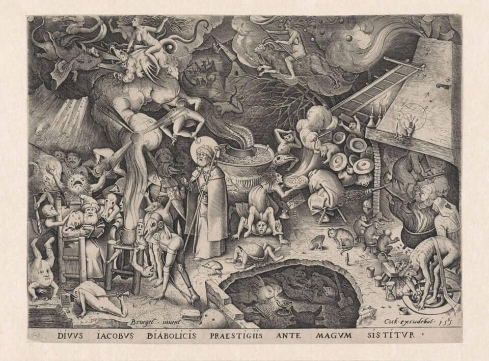 Apócrifa Art Magazine, Brujas, Santiago en la cueva del brujo