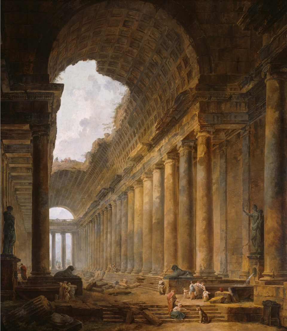 The old temple, Hubert Robert
