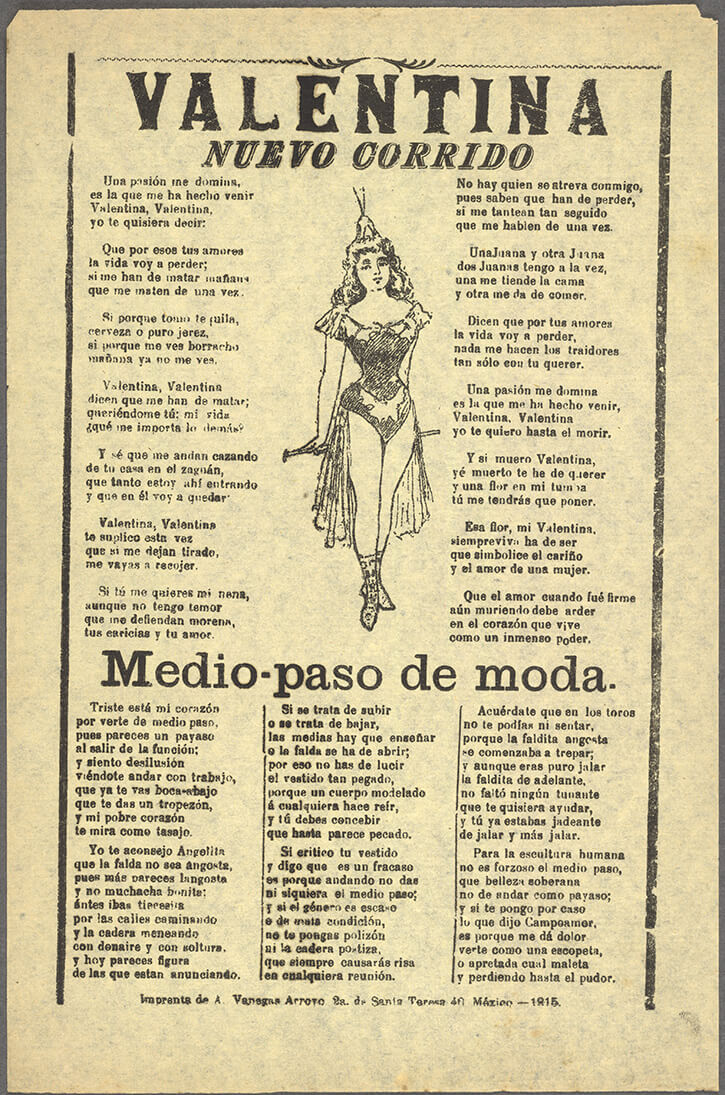 El corrido revolucionario, letra de La Valentina
