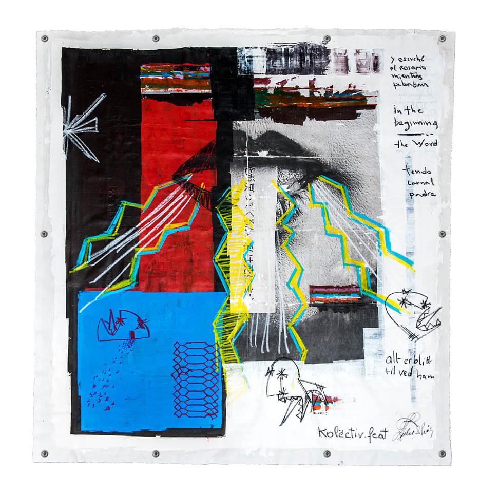 La Palabra 1.55 x 1.41 mts. Transfer fotográfico, acrílico, óleo 2016