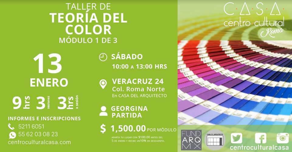 Agenda cultural, Taller de teoría del color