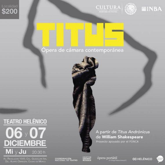 Agenda cultural, Titus ópera