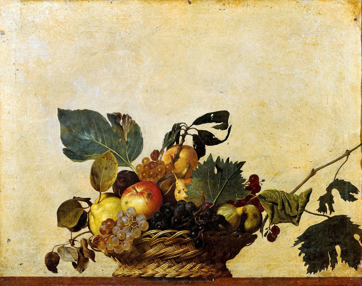 Tiempo, Cesto con frutas, Caravaggio