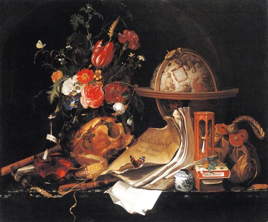 Tiempo, Vanitas, Naturaleza muerta de María van Oosterwijck