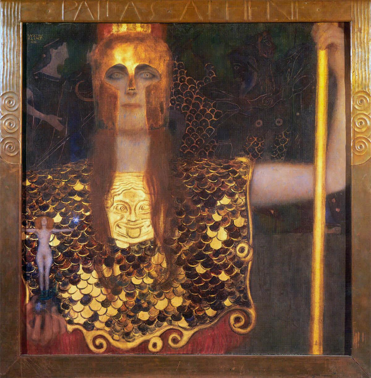 El oro de Klimt, Palas Atenea