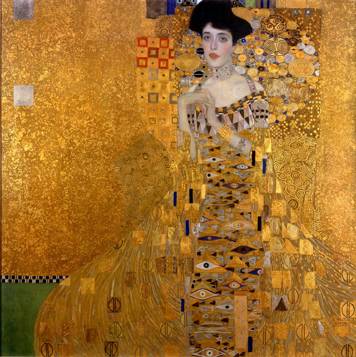 El oro de Klimt, retrato de Adele Bloch Bauer I