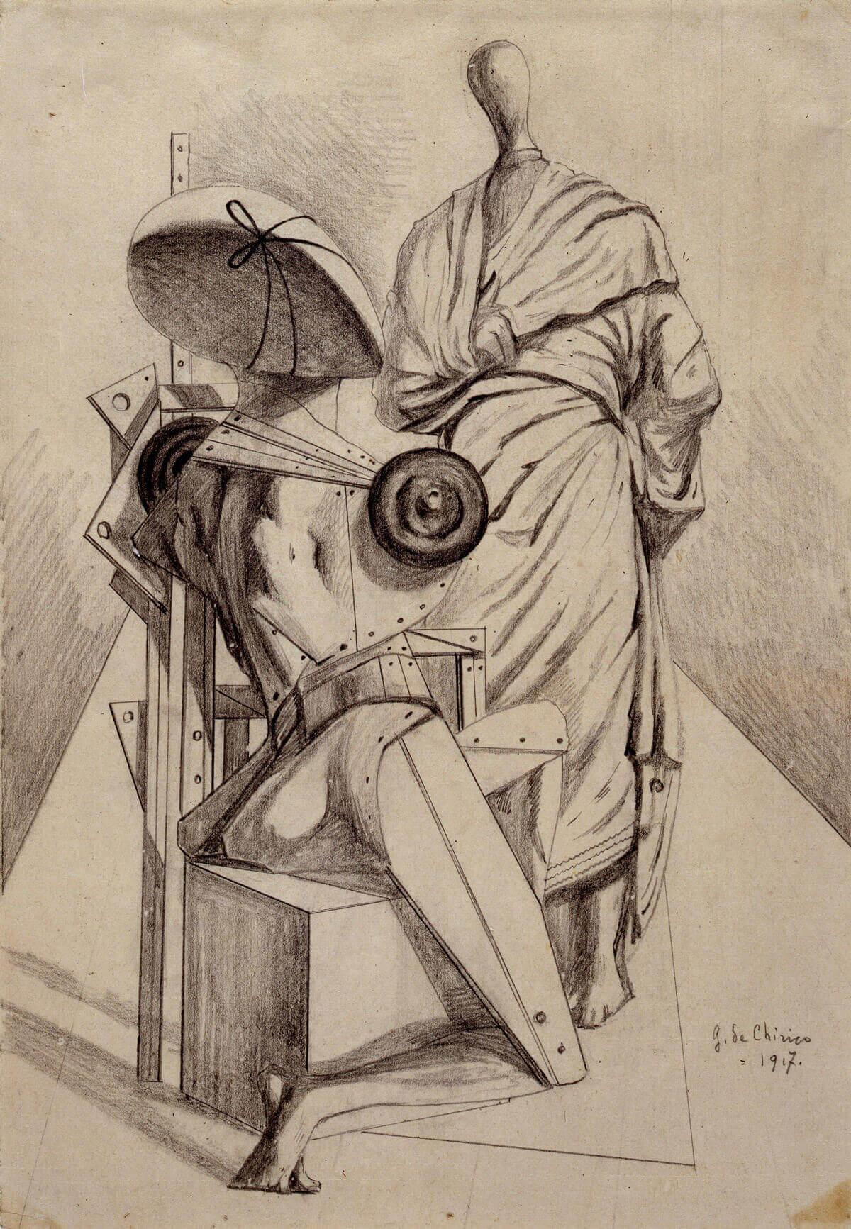 Giorgio de Chirico, Aparición (1917).