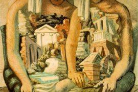 Giorgio de Chirico, Los arqueólogos (1927), óleo sobre tela.