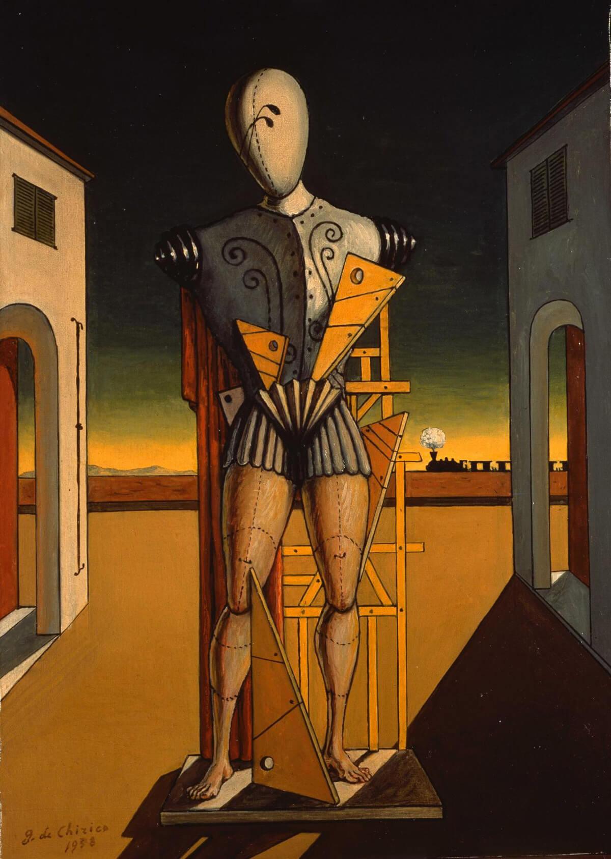 Giorgio de Chirico, El Trovador (1972), óleo sobre tela