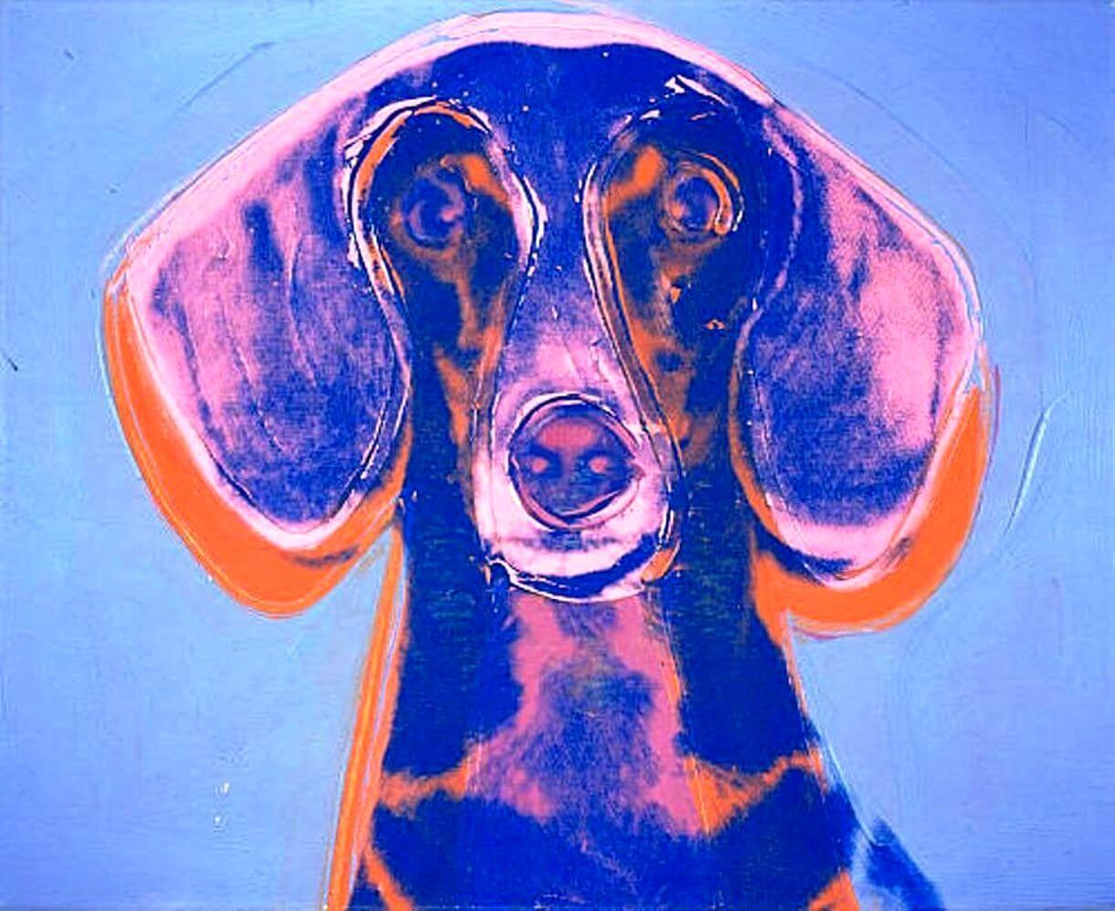 Canis lipus familiaris, Andy Warhol, retrato de Maurice