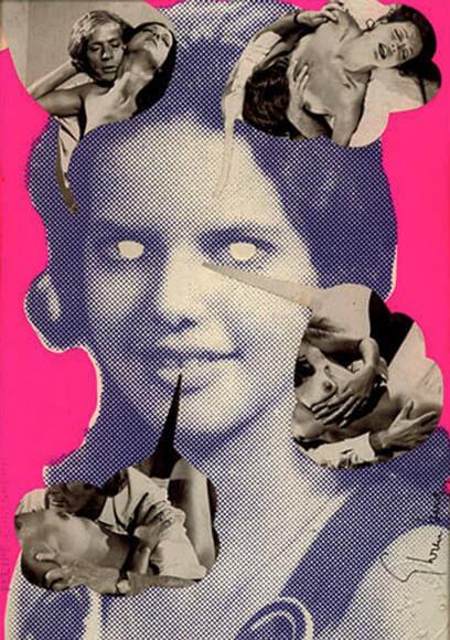 Sin título #1 (1974), collage sobre impresión serigráfica.