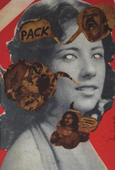 Sin título #2 (1974), collage sobre impresión serigráfica.