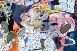 Jason Jägel, Speaking Solely Punctuation, gouache y tinta sobre papel, 58.5x39.5 cm, 2009