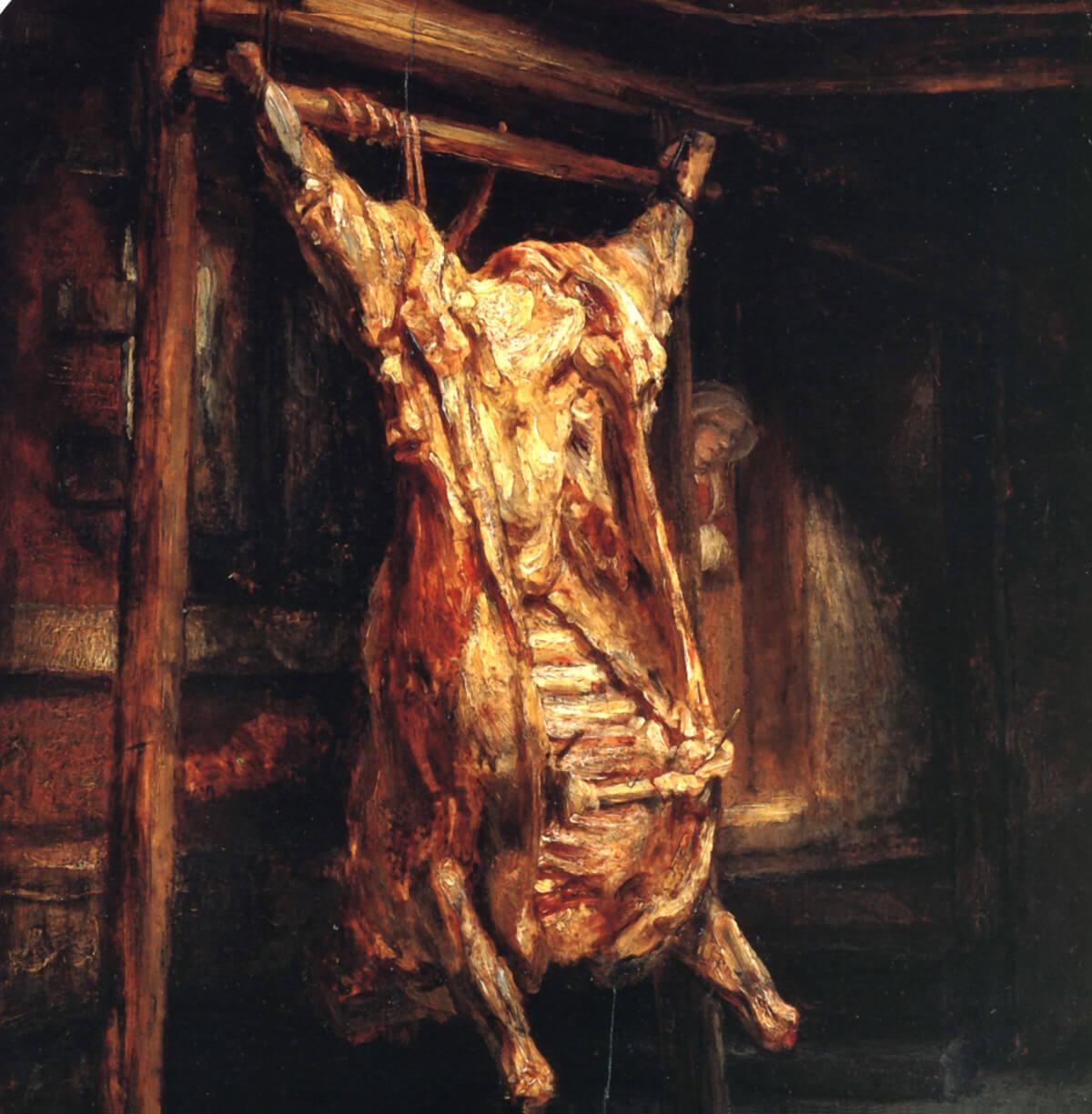 El buey desollado, Rembrandt