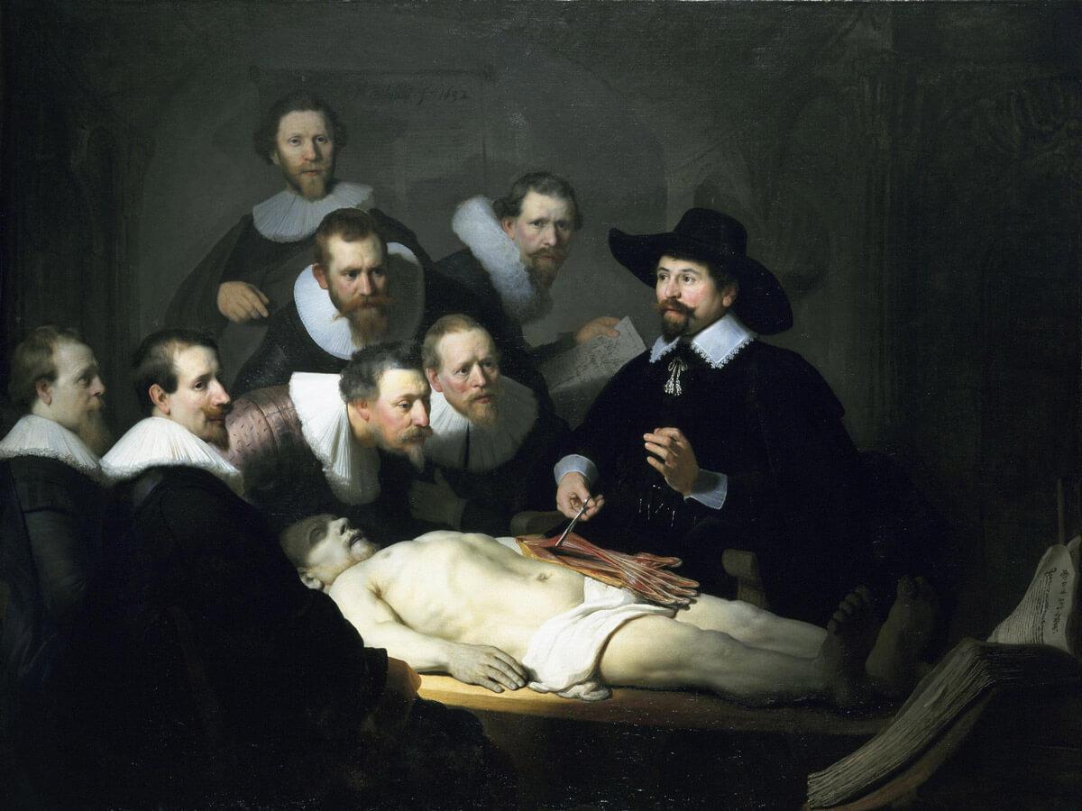 La lección de anatomía del Dr. Nicolaes Tulp, Rembrandt