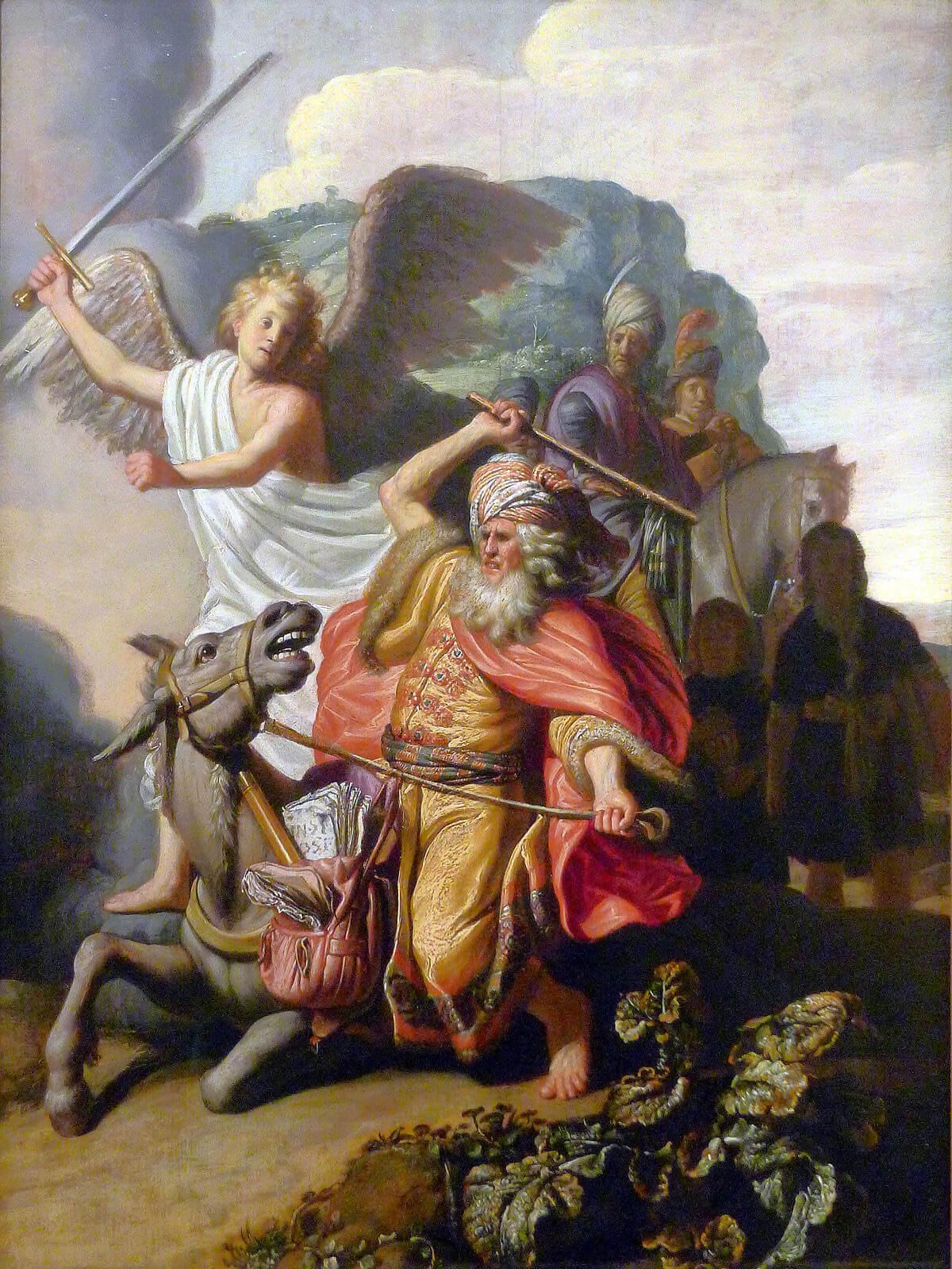 El profeta Balaam y su burra, Rembrandt