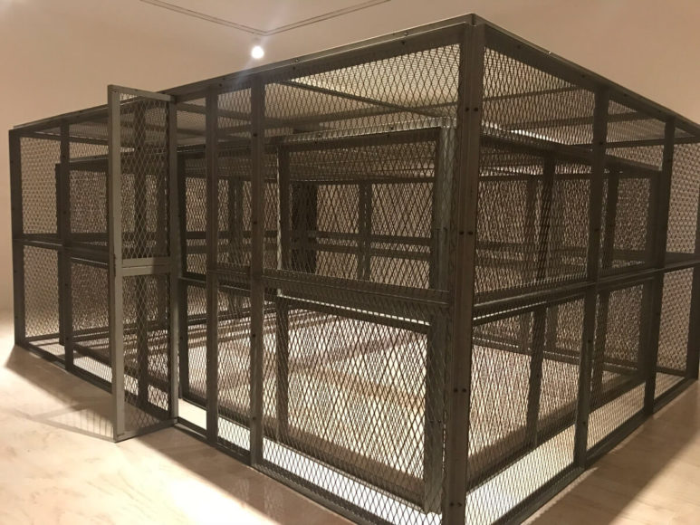 Double steel Cage Piece,  1974.