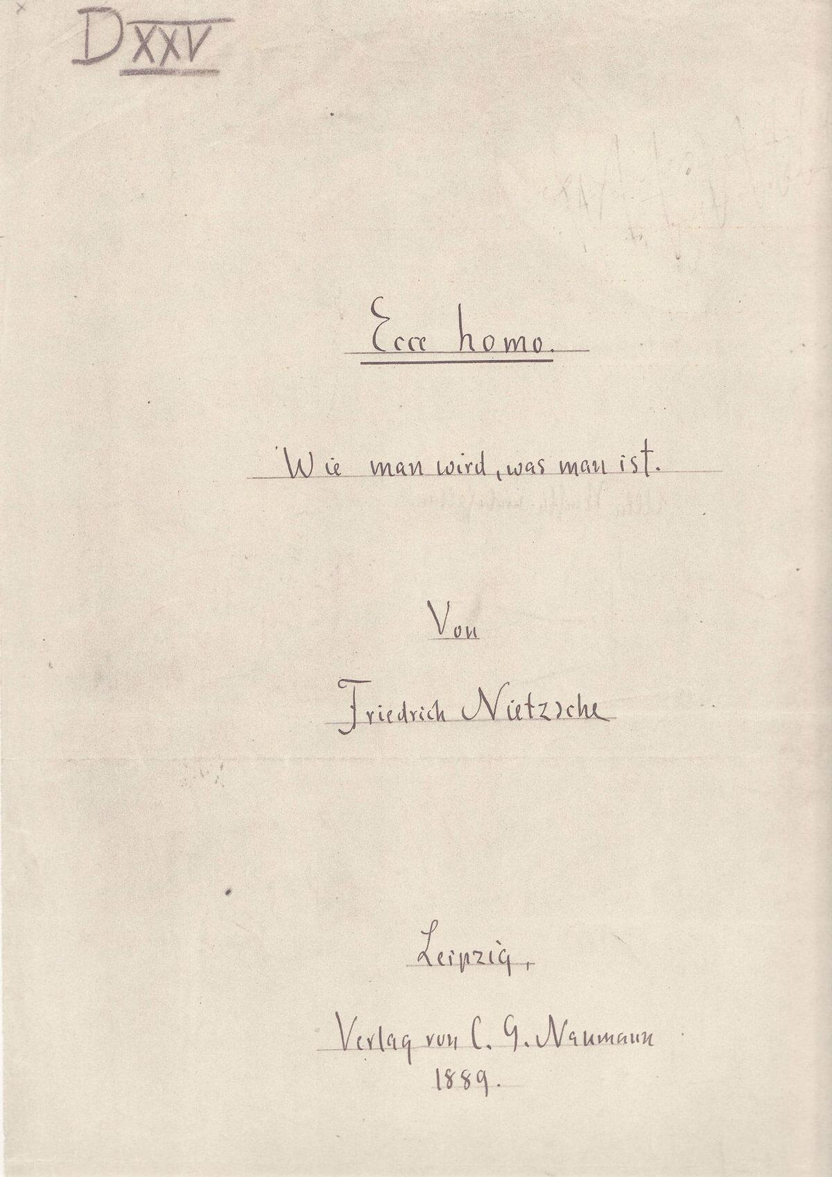 Nietzsche - Eh Titel