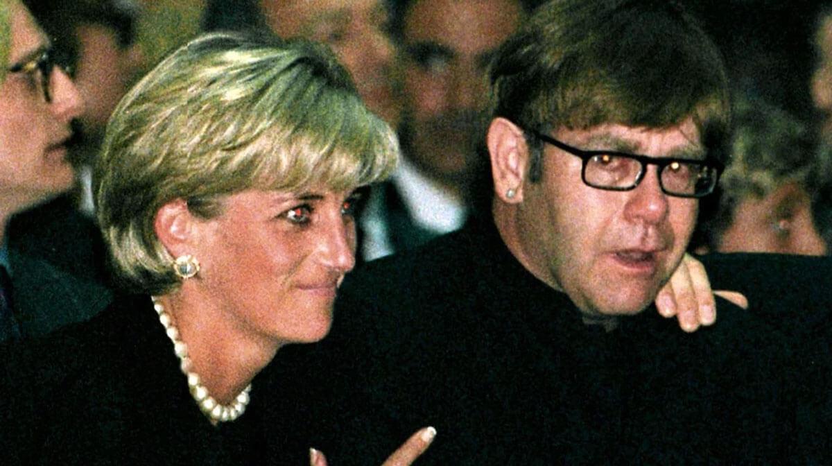 Elton John con Diana de Gales